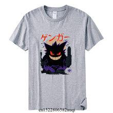 Мужская и женская футболка Gengar Kaiju в японском стиле Harajuku, эстетическая готическая одежда для мальчиков и девочек, Прямая поставка(Китай)