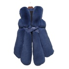2020 Winter Fur Hot Fashion Women Long Blue Fox Fur Vest