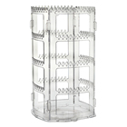 Earring Earring Holder 360 Rotating Earring Holder And Jewelry Organizer 4 Tiers Acrylic Earring Display Stand 156 Holes And 160 Grooves For Necklaces