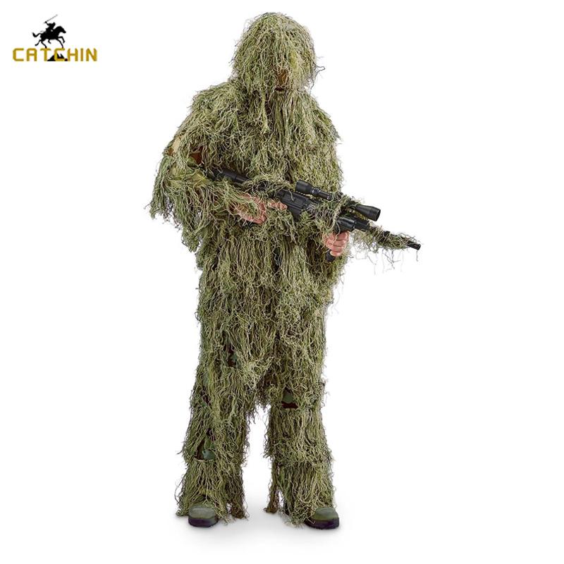 Маскировочный костюм 3D 4 предмета в комплекте с сумкой камуфляж тактическая охотничья Лесной