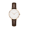 Часы с белым циферблатом, корпус из розового золота