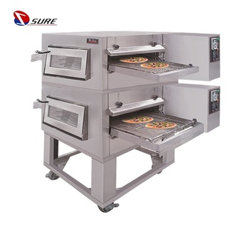 Commercial bakery machine gas pizza conveyor belt oven for sale italian conveyor pizza oven
