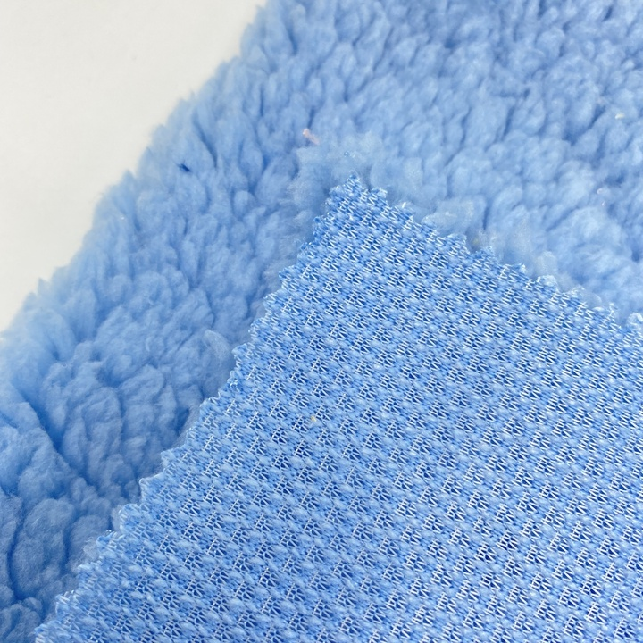 Hot sale product yarn 100% polyester hoodie blanket ultra soft Cotton sherpa fleece brushed fabric
