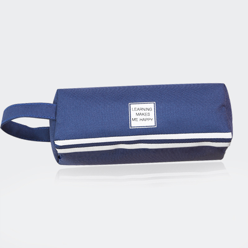 Large capacity pencil case with handle creative and multifunctional double-layer pencil case pupil pencil case