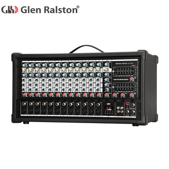 Glen Ralston 12 channel professional digital music audio dj mixer controller with 700W dj audio mixer with low price and USB