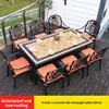 20-8 барный стул 1 керамическая плитка прямоугольный стол 185 см