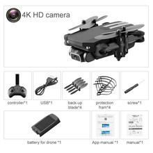 Радиоуправляемый мини-Дрон Halolo, 4K HD камера, Wi-Fi, Fpv LS-MIN RC, складной карманный Квадрокоптер, профессиональный вертолет, Дрон, черные игрушки дл...(Китай)