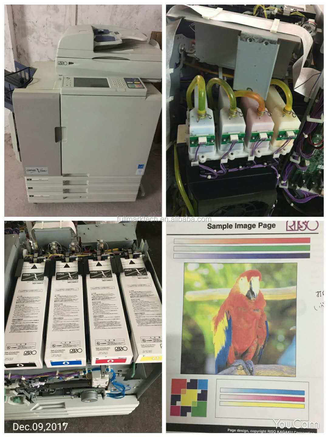 used and reconditioned risos comcolor machine 7150/7250  four color inkjet printer for risos printing