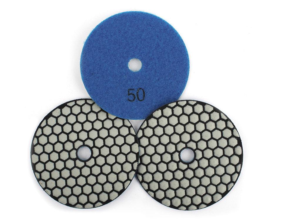 Dry Polishing Pads Kit For Granite Marble Polishing