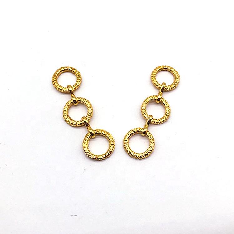 2021 Fashion gold swimwear ring bikini circle connector in nickle free
