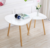 White Gloss Wood Nesting Tables Living Room Sofa Side End coffee Table Set of 2