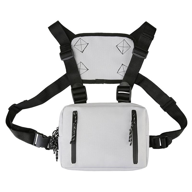 MOQ 10 Custom LOGO Functional Messenger Backpack Utility Men Women Front Chest Rig Vest Pack Bag for Outdoor Travel