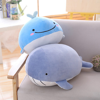 Very Soft Baby Blue Whale Shark Hugging Pillow Baby Whale Plush Toy Doll Fish Plush Toy Stuffed Animals 9""
