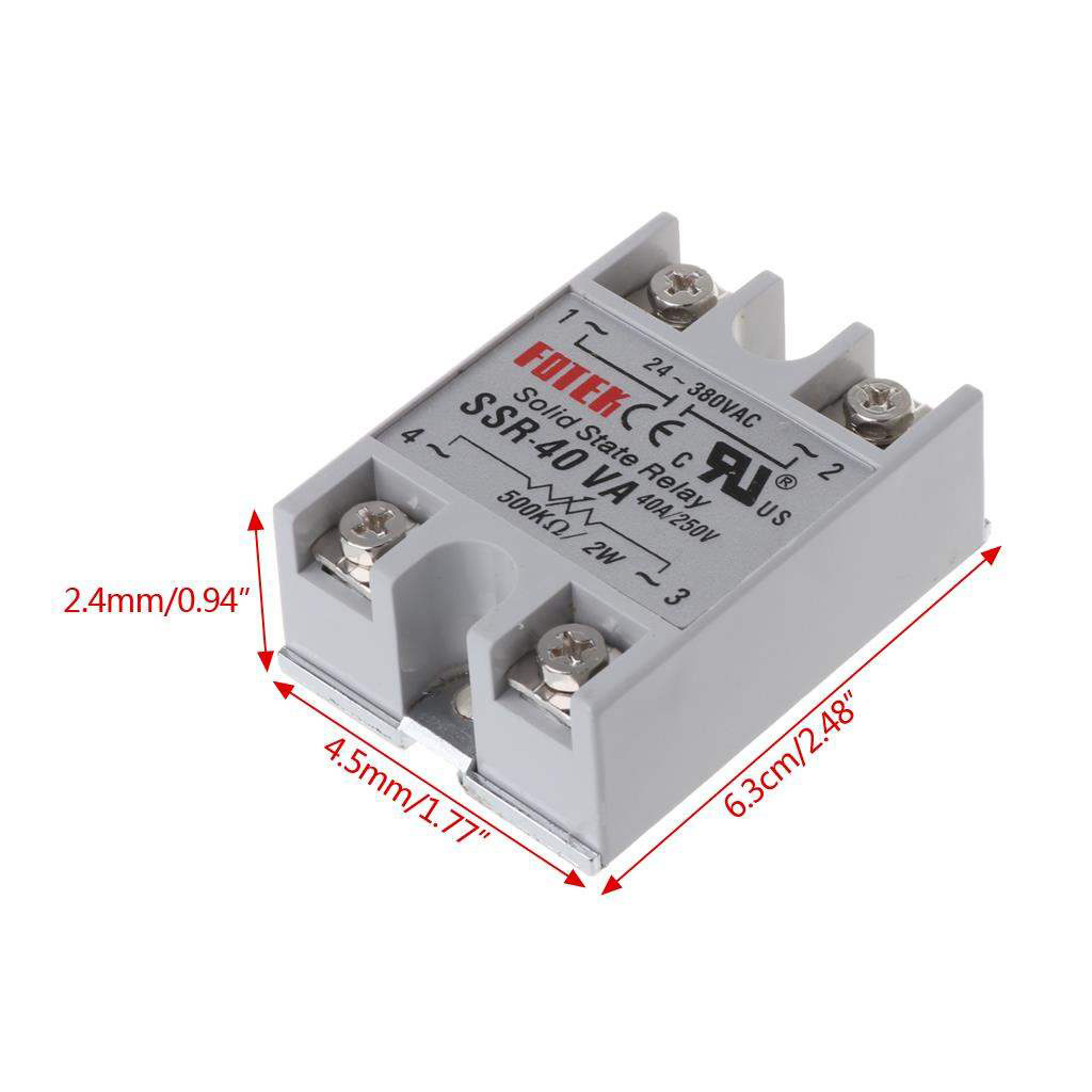 Переменный резистор твердотельные реле 40A ssr-40va fotek реле, ssr40va твердотельные реле ssr 40va