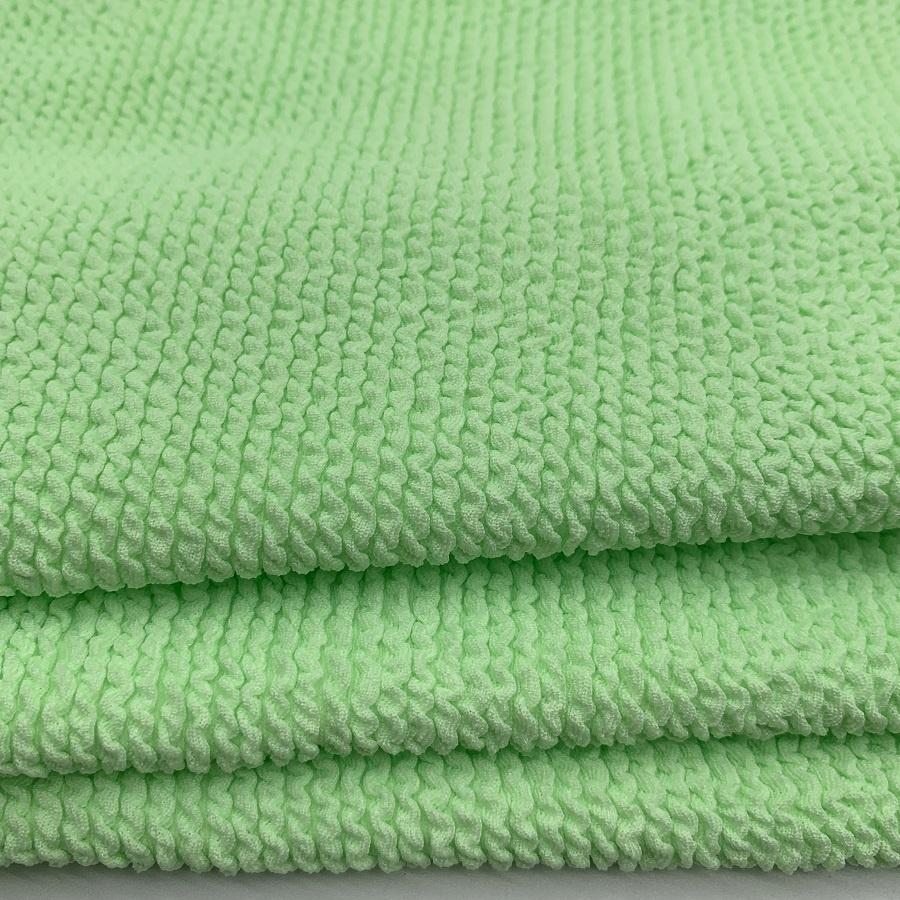 High quality polyester spandex swimwear fabric stretchy crinkle fabric seersucker