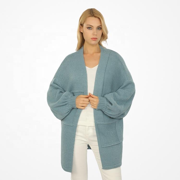 Newest Women Knit Wool Sweaters Cardigan Long Woolen Cardigan for Women