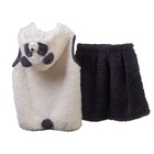 Girls Kids Clothes Girls Animal Hooded Vest And Skirt Set