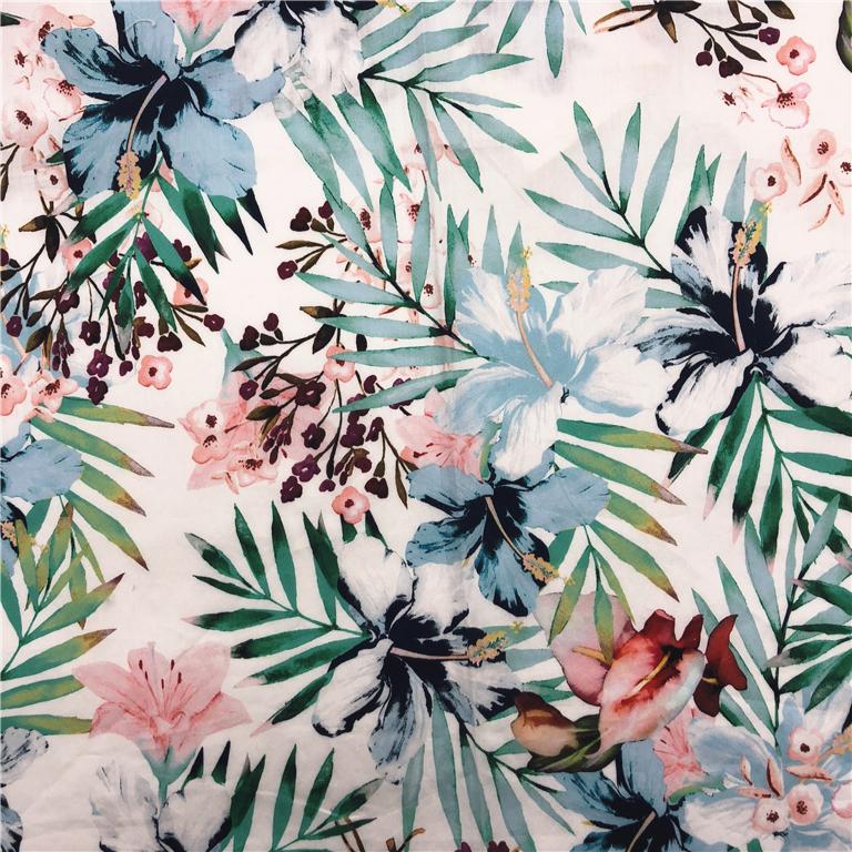 Customized designs digital print service printed sateen cotton fabric