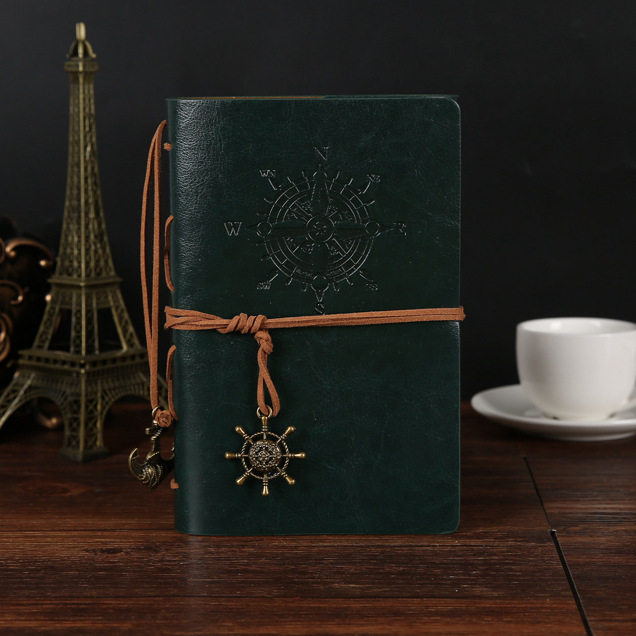 best selling office school supplies pu leather soft cover Vintage kraft paper travellers notebook a5 spiral notebook custom