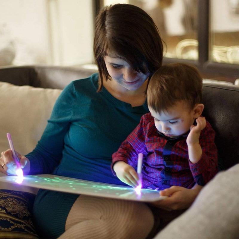 Лидер продаж, Amazon, обучающий 3D волшебный планшет для рисования со светодиодной подсветкой, ЖК-дисплей 8,5 дюйма, планшет для рисования для детей