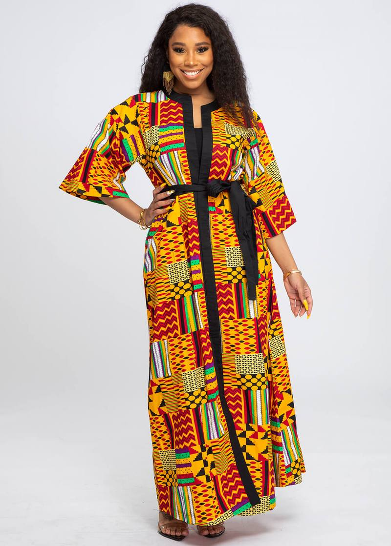 African women kimono summer floral fashion half sleeve beach kimono