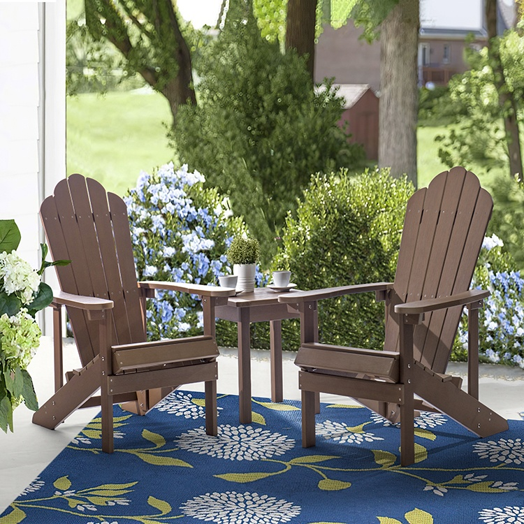CHOUVANT high quality furniture supplier outdoor furniture folding garden waterproof plastic wood hdpe adirondack chair