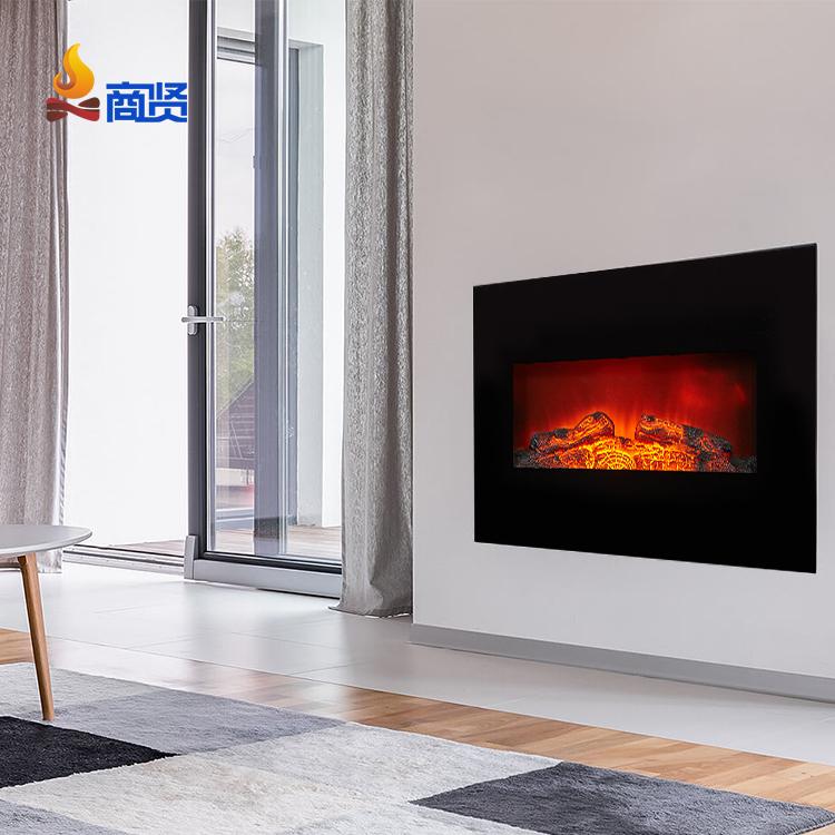 23 дюймовая вставка с кирпичной панелью декор пламя настенный подвесной дешевый Электрический камин