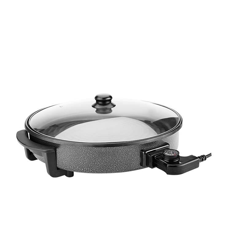 Wholesale Multifunction Round electric skillet baking pan/pizza pan/pizza maker 1500w pan 42cm for Europe market