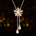 2021 hot selling pearl and sunflower pendant full of diamonds to go with women's necklace