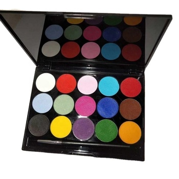 custom private label 15 colors uv neon face body paint palette water activated eyeliner palette kit