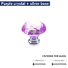 Purple crystal + silver base