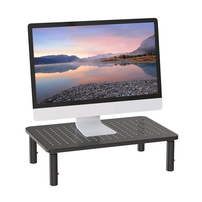 Storage Double Monitor Laptop Stand Adjustable Riser Desk Computer Monitor stand desk Tv Shelf Riser With Organizer Metal