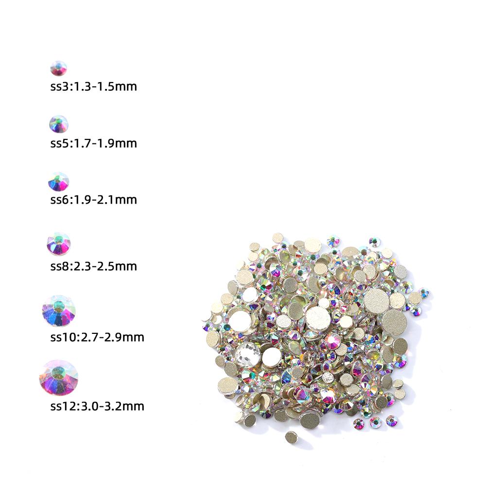 Высококачественные 3D кристаллы для ногтей, алмазная стеклянная коробка для хранения камней, Стразы для ногтей
