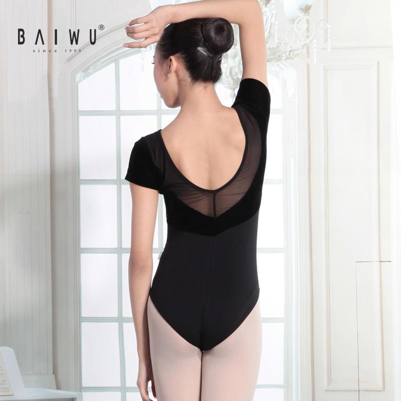 115141007 Baiwu танцевальная одежда, танцевальные трико, балетные бархатные трико