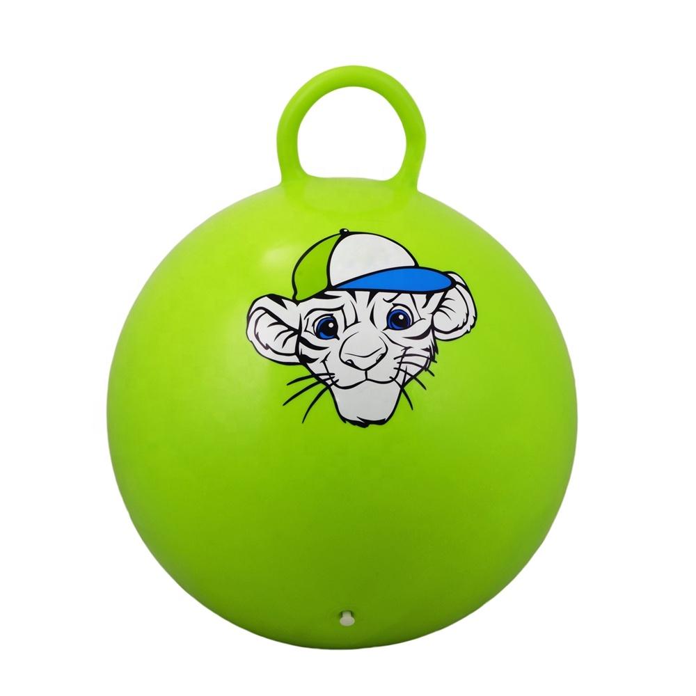 Хороший красочный прыгающий мяч из ПВХ с ручкой