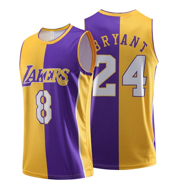 Mens Basketball Jersey Uniform Kobe Jersey Front 8 Back 24 ...