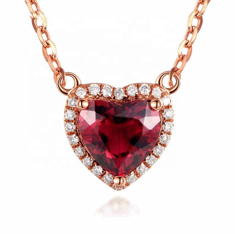 Cheap Price Real 18k Rose Gold Heart Shaped Natural Ruby Pendant Necklace Buy Gold Necklace Natural Ruby Pendant Necklace Cheap Heart Necklace Product On Alibaba Com