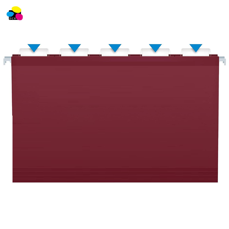 25 per Box 1/5-Cut Adjustable Tab Legal Size Purple Hanging File Folder with Tab