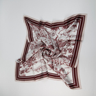 Pattern Scarf Scarf New Design Personality Pattern Wine-Colored Silk Printed Twill Scarf For Ladies