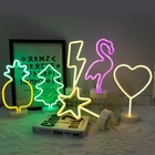 Heart Led Light Led Newish Wholesale Custom Design Acrylic Pink Signs Heart Table Desk Stand Christmas Party Decoration Led Neon Light For Kids Room