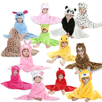 25 styles Animal shape baby hooded bathrobe cute baby bath towel baby bath towel fashion Newborn blankets kids towel with hood