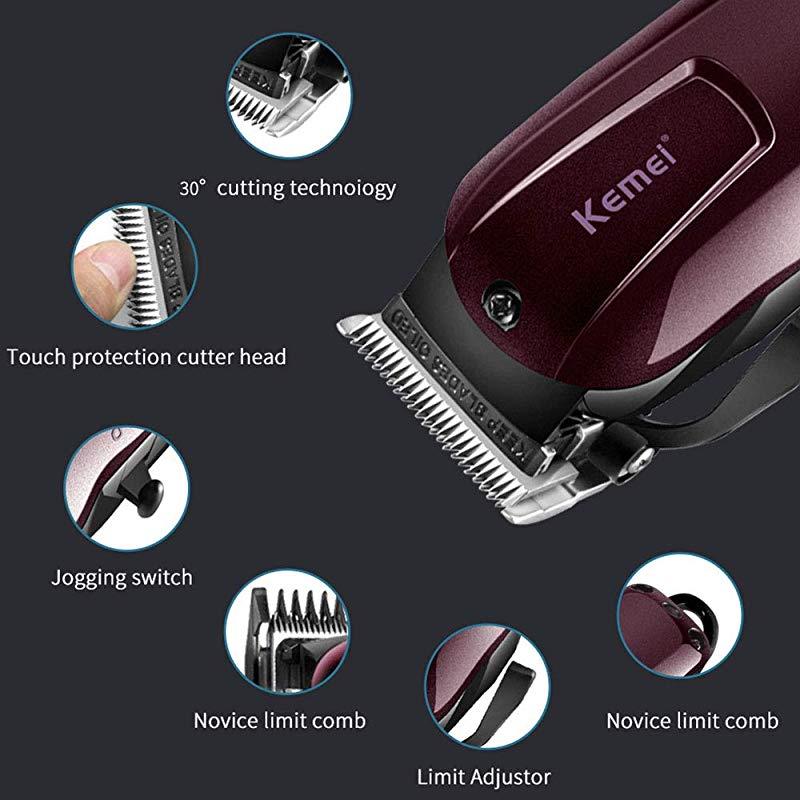 Kemei-2600 мужской набор для стрижки волос перезаряжаемый электрический триммер Набор шнур/беспроводной набор для ухода бритва ножницы для укладки волос