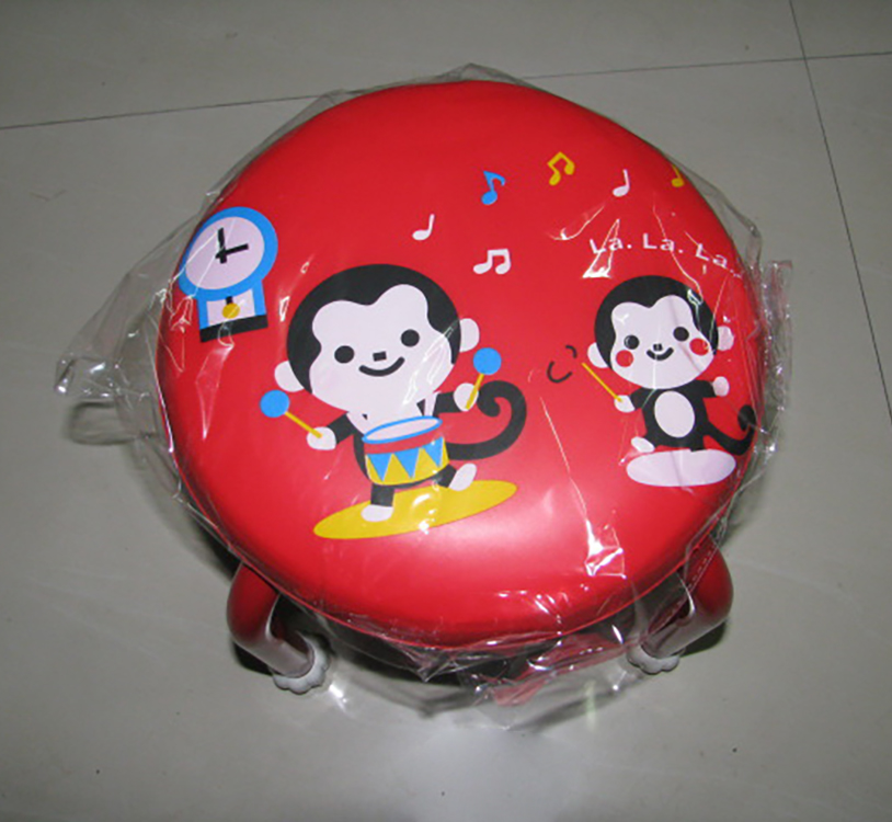 Portable Folding plastic round stool Indoor and outdoor baby cartoon stool