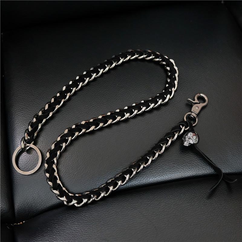 Новое поступление 71 см Длинные мужские Rock Metal штаны цепи браслеты с подвесками с изображением черепа; Штаны цепи