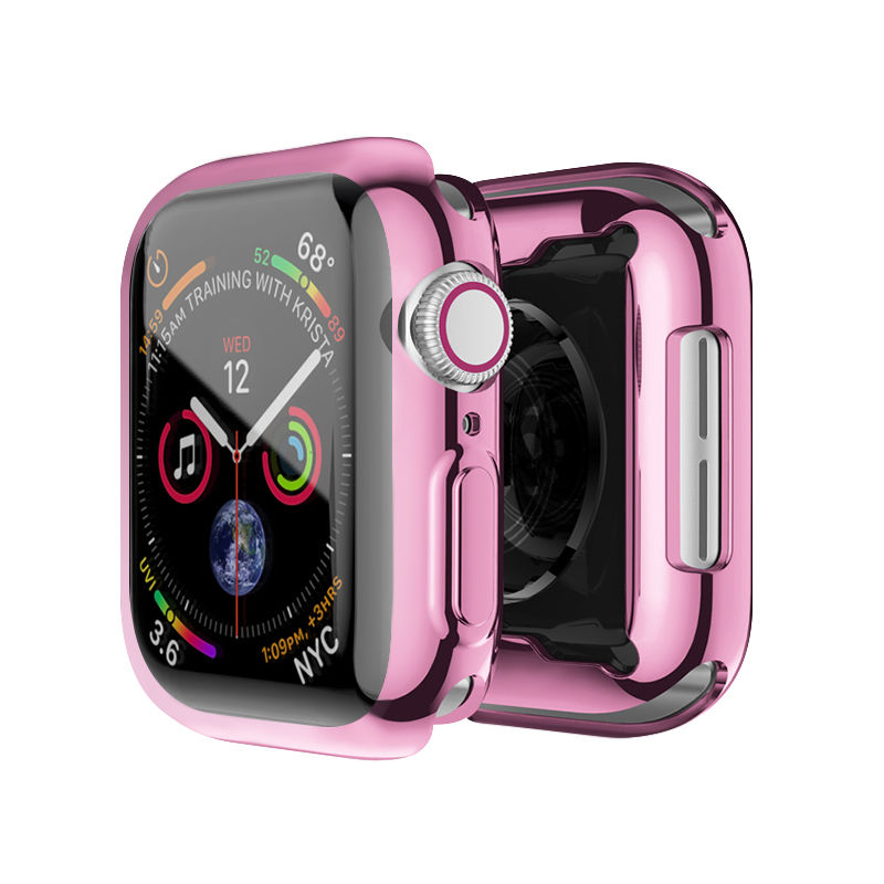 Soft Transparent Clear TPU Screen Protector Watch Protective Case For Apple Watch Series 6 5 4 3 SE Cover 44mm 42mm 40mm 38mm