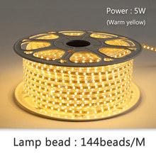 Moonshadow светодиодные полосы Гибкие неоновой водонепроницаемый многоцветный 5050/2835 комнатного света 144 / м Fita светодиодные ленты 220V ЕС Plug(Китай)