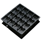 wholesale 20*20*3cm packaging boxes High toughness plastic template for chocolate