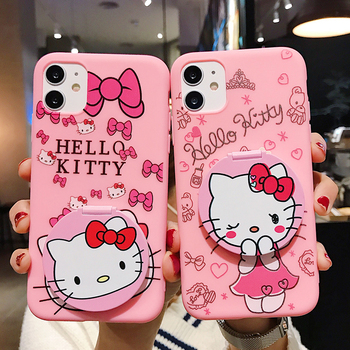 Hello Kitty Mirror Mobile Phone Case Phone Cover for iphone 12 12pro cell phone case for iphone XS Max SE