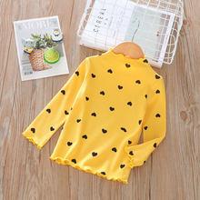 Милые футболки с принтом «любовь» модная детская одежда футболка для девочек хлопковые топы с длинными рукавами для девочек, Весенняя детс...(Китай)