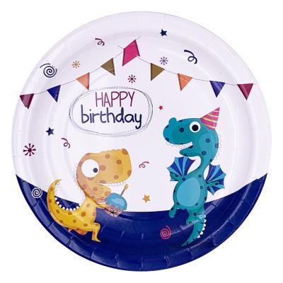 Прекрасная вечеринка с голубым и розовым динозавром тематическая вечеринка для детского дня рождения принадлежности для вечеринки
